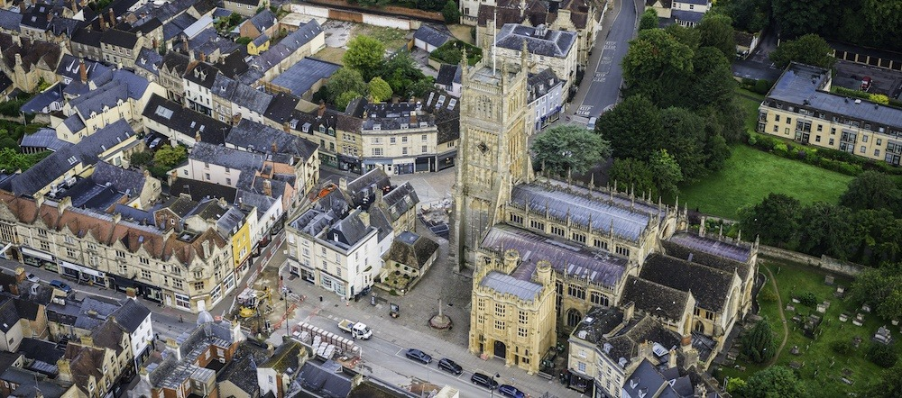 Cirencester Town Centre with our Estate Agents office